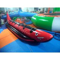 Buy cheap Exciting PlatoTowable Inflatable Red Shark Boat For Water Games With from wholesalers