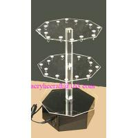 Buy cheap Rotate jewelry display stand counter top acrylic earrings holder from wholesalers