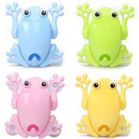 Buy cheap Colorful Frog Plastic Draining Rack , Silicone Plastic Toothbrush Holder product