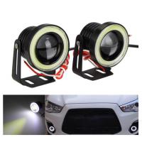 Buy cheap Waterproof LED Auto Headlight Lighting Fog Light With Lens Halo Angel Eyes Rings COB 30W 12V from wholesalers