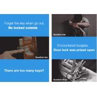 Buy cheap Full Automatic Fingerprint Lock Zink Alloy Smart Door Locks With 5 Unlock Ways from wholesalers