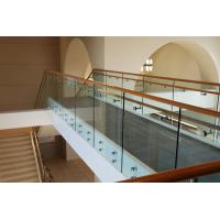 Buy cheap Stair Standoff bracket frameless tempered glass railing Easy Installing Design product