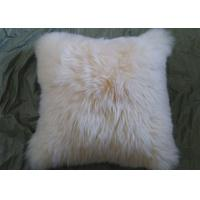 Buy cheap Single Sided Sheep Fur Dining Room Chair Cushions Moisture Proof With Long Hair from wholesalers