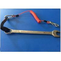 Buy cheap Red PU Coiled Spring Retractable Tool Lanyard Cable Snap Hooks from wholesalers