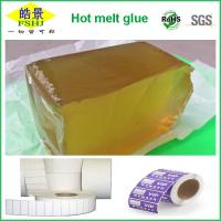 Buy cheap Light Yellow And Block Shape PSA Hot Melt Adhesive For Prices Label 12 Months Validity from Wholesalers