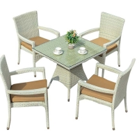 Buy cheap Weatherproof PE Wicker Washable Seat Cover Outdoor Table Chairs from wholesalers