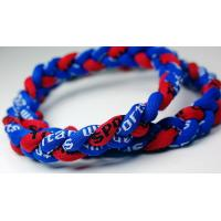 Buy cheap Silicone Negative Ion Baseball Titanium Braided Necklace , Twist Titanium Tornado Necklace from wholesalers