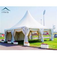 Buy cheap Wind - Resistant 50 Seater White Aluminum Pagoda Tent / Gazebo Event Tent from wholesalers