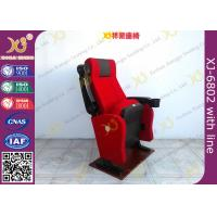 Buy cheap Fire Retardant Fabric Cover Cinema Theater Chairs Anchor Fixed On Floor from wholesalers