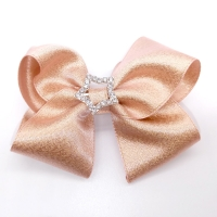 China Fashion Champagne 6Children Hair Bows With Clips Set For Birthday Gifts on sale