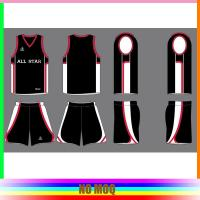 Buy cheap Digital Print Reversible Mesh Basketball Jerseys , Sublimated Basketball Uniforms from wholesalers