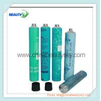 Buy cheap Empty  aluminum Collapsible tubes for hair dying cream packing  blue color printing from wholesalers