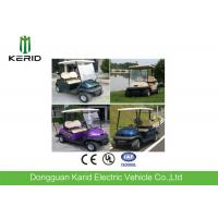 Buy cheap 48V Battery DC Motor Electric Golf Carts With Tubular Steel Chassis 2 Person For Golf Course Using from wholesalers