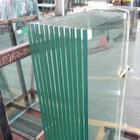 Buy cheap 8mm 10mm 12mm thickness plain building reflective tempered laminated safety glass panel with PVB or SGP film price m2 from wholesalers