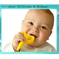 Buy cheap 100% PBA free silicone teething toothbrush for baby from wholesalers
