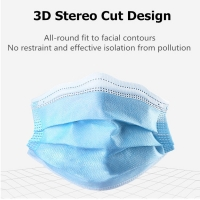 Buy cheap 3ply Non Woven  Disposable  Protective Dust and Water-proof  Face Mask For Civil Use from wholesalers