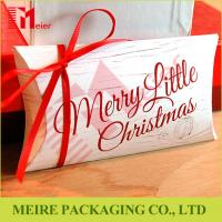 Buy cheap Merry Christams pillow box manufacturers custom printed pillow paper boxes supplier from wholesalers