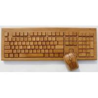 Buy cheap Good quality wireless bamboo keyboard from wholesalers