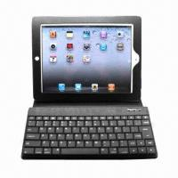 Buy cheap Tablet PC Case with Bluetooth Keyboard, Made of Leather, Suitable for iPhone/iPad from wholesalers
