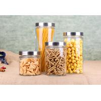Buy cheap Cylinder Glass Jar Container Noodle Storage Dry Food Glass Jars Kitchenware Set from wholesalers