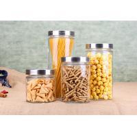 Cylinder Glass Jar Container Noodle Storage Dry Food Glass Jars Kitchenware Set