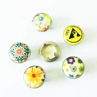 Buy cheap Custom Fashion Shirt Snap Button Pearl Prong Fastener; Brass Pearl Prong Fastener 4 Pieces from wholesalers