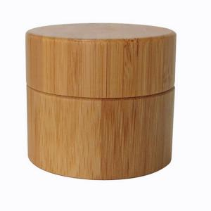 Buy cheap 100g Leakproof PP Cosmetic Jar Containers With Bamboo Cover product