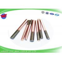 Buy cheap Custom Length EDM Threading Electrodes M6 Tungsten Copper With 1 Mm Dia Hole from wholesalers