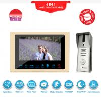 Buy cheap Intercom system set door bell camera video 7 Inch TFT LCD with CE FCC ROHS Certification video Intercom apartments from wholesalers