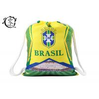 Buy cheap Brasil Printed Cinch Sack Drawstring Backpack Big Size Waterproof Patterned With Thick Ropes from wholesalers