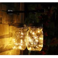Buy cheap Eco Friendly Solar Mason Jar Lid Insert Light , 10 LED Warm White Solar Fairy Lights from wholesalers
