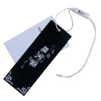 Buy cheap Customized White And Black Clothing Hang Tag With Swing Drops For Garments from wholesalers
