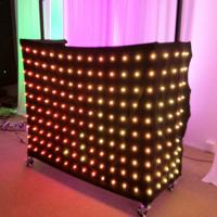 Buy cheap 1 x 2m Rgb 3in1 Colorful LED Video Curtain , Professional Decoration LED Light Curtain from wholesalers