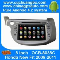 Buy cheap Ouchuangbo Capacitive Android 4.2 GPS Navigation DVD Stereo for Honda New Fit 200-2011 USB from wholesalers