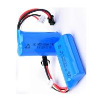 Buy cheap 14500 Rechargeable Battery Pack 7.4V 650mah For LED Torch / Mini Speaker , Blue Color Wrap from wholesalers