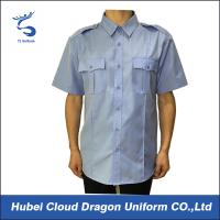 Buy cheap Customized Color Men's Short Sleeve Dress Shirts For Security Guard / Police from wholesalers