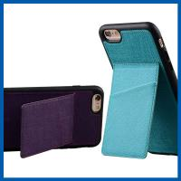 Buy cheap TPU Back Stand Cell Phone Leather Cases iPhone 6S Credit Card Slots Holder from wholesalers