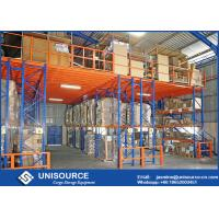 Buy cheap Blue Rack Supported Mezzanine 1000 Kg Per Square Meter With Solid Steel Grating Deck from wholesalers