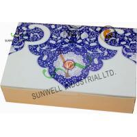 Both Sides Printing Cardboard Food Packaging Boxes , Mooncake Display Packaging Box