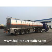 Buy cheap 45cbm Fuel Tanker Trailer With LED Light / Crude Oil Truck 45000 Liters from wholesalers