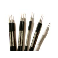 Buy cheap RG59 ST Coaxial Cable 0.64mm BC Solid PE 95% CCA Braid PVC Jacket Black from wholesalers