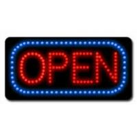 Buy cheap Round Neon Illuminated LED Open Sign With Remote 8-Speed Flashing Option from wholesalers