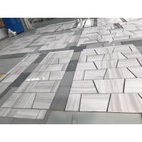 Buy cheap White grey wooden grain natural marble tile and slab from wholesalers
