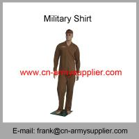 Buy cheap Wholesale Cheap China Military Brown Wool T/R Army Police Officer Shirt from wholesalers