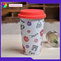 Buy cheap Double Layer Insulated Ceramic Coffee Mugs Without Handles Silicone Cover from wholesalers