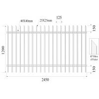 Buy cheap 45 degree mitred picket 25mmx25mm 2 Rails 40mmx1.60mm H1200mmxW2450mm Hercules Fencing from wholesalers