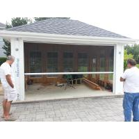 Buy cheap Electric / Motorized retractable flyscreen window ( Automatic roll up insect screen  ) from wholesalers