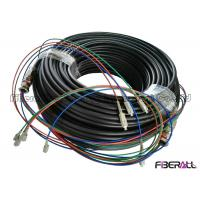 Buy cheap Outdoor Waterproof Fiber Optic Cable Patch Cord 2 To 12 Cores PE Jacket from wholesalers
