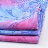 Buy cheap Knit Spandex FDY Jersey Tie Dyed Flock Polyester Fabric For Dress from wholesalers