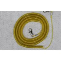 Buy cheap safety spiral lanyard cable coil rope boat fish tackle rod protector wire elastic fishing from wholesalers